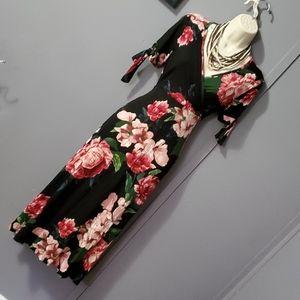 Stunning Deep V Neck Floral Dress